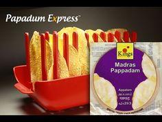 Papadum Express® - Kings Madras Pappadam. Microwave cook 5 papads in 40 seconds!