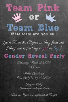 Gender Reveal Baby Shower Invitation customized by DesignsByDMS, $10.95