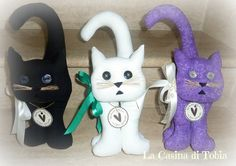 La Casina di Tobia: Gatti fermaporta e fermalibri, in stoffa colorata