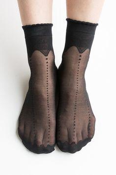 Women New Hezwagarcia HOT Sheer Crwon Lace See Through Casual Black Ankle Socks Stocking Hosiery