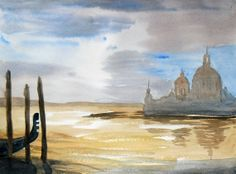 Venice Original Watercolour of Santa Maria by JulianLovegroveArt, £60.00