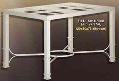 Mesa de forja rectangular de 120x80cm  www.rustiluz.com #mesa, #forja, #hierro, #forjado, #decoracion, #rustica, #comedor