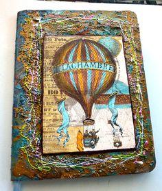 Arouond the World in 80 days journal smashbook steampunk theme - Scrapbook.com