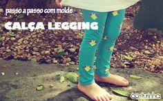 passo a passo com molde grátis de calça legging infantil  free pattern and tutorial