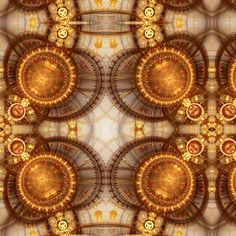 Steampunk fabric by the yard -Rgildedcompass2_shop_preview