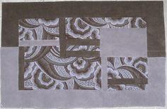 Art Déco tapis, rug, carpet, patchwork, french création, Paris, tableau unique, descente de lit, tapis de couloir, pure laine, wool, upcycling, artisanat d'art, art&craft, handicraft, craftsmanship,upcycling, artisanat d'art,