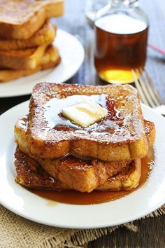 Pumpkin French Toast Recipe on twopeasandtheirpod.com The perfect breakfast treat for fall!
