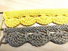 КАЙМА, КРАСИВОЕ НАЧАЛО ДЛЯ ВЯЗАНЫХ ИЗДЕЛИЙ. Вязание спицами. - YouTube Lace Knitting Patterns, Knitting Stitches, Knitting Socks, Baby Knitting, Diy Crafts Knitting, Knitting Projects, Tricot Simple, Knit Edge, Diy Scarf