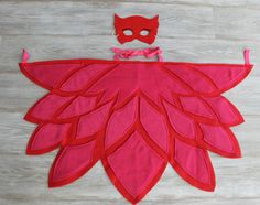 PJ Owlette Wings, Red Pink Owl Wings, Owlet Bedtime Hero, Free Surprise Gift with Wing & Mask Purchase by thomaspark on Etsy https://www.etsy.com/listing/269991706/pj-owlette-wings-red-pink-owl-wings