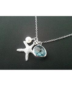 $22.00 Starfish Trio Silver Necklace