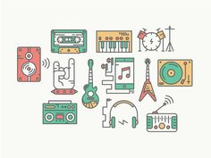 Music Icons by Christine Soules