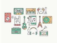 Pictogramas de instrumentos que podria utilizar para la zona de rock