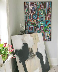 "I find it extremely evolving to work with different ways to ekspress my self with my art. Here two pieces of my ""artlanguage"". #art #arte #artist #artlanguage #myartlanguage #kunstwerk #nytidskonst #colour #followme #contemporaryart #danskkunst #danskdesign #denmark🇩🇰 #deteraldrigforsent #inspired #instaart #boligindretning #indretning #interiordesign #galleri #gallery #lifesjourney #international #internationaldesign #livetsrejse @tinahee_art"