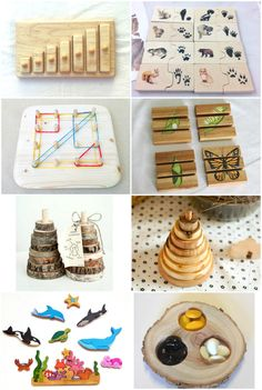 Sweet Wooden Montessori Finds on Etsy