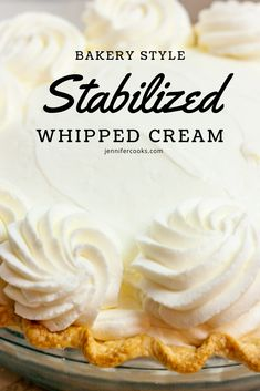 cream frosting Looking to make whipped icings like the bakery that dont turn into a melty mess on your beautiful cake? Stabilized Whipped Cream is your answer! Stabilized Whipped Cream Frosting, Homemade Whipped Cream, Whip Cream Frosting, Stablized Whipped Cream, Best Whipped Cream Frosting Recipe, Bakery Style Frosting Recipe, Whipped Cream Recipes, Starbucks Whipped Cream, Cheesecake With Whipped Cream