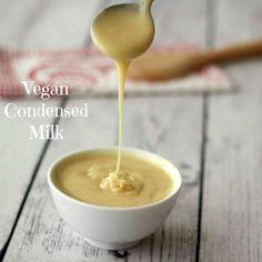 Easy 5 Ingredient Vegan Condensed Milk #vegan #gluten-free #dairy-free