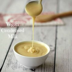 Easy 5 Ingredient Vegan Condensed Milk #vegan #gluten-free #dairy-free