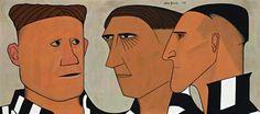 John Brack ~ Three of the Players, 1953 Australian Painters, Australian Artists, Collingwood Football Club, Ages Of Man, Australian Football, Classic Image, Modern Artists, Sports Art, Aboriginal Art