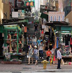 View On Black Aberdeen Street, Sheung Wan, Hong Kong Thailand Travel, Croatia Travel, Bangkok Thailand, Hawaii Travel, Italy Travel, Hong Kong Architecture, China Hong Kong, Hong Kong Art, British Hong Kong
