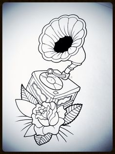 Gramophone tattoodesign
