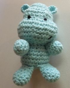 Happy Hippo - I wish I could crochet. This dude is adorable!!!