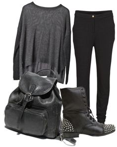 """my back to school outfit today was similar to this"" by malita-xoxo ❤ liked on Polyvore"