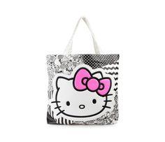 Hello Kitty Canvas Tote Bag: Monotone Collection
