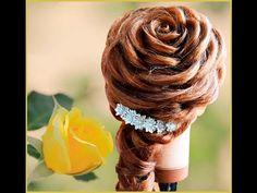 Свадебная прическа на длинные и средние волосы Роза из волос. Rose hairstyle - YouTube