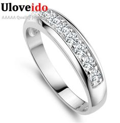 Uloveido wedding band anillo de compromiso anillos para las mujeres joyería anillos anel masculino feminidad j294 anillo femenino 2017 jardín