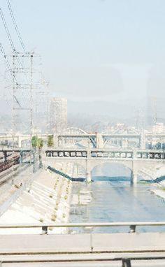 LA Portrait Print City L.A. California Town by DeMintGallery