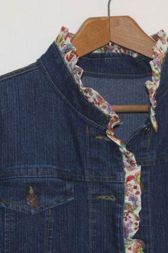 jacket refashion {a tutorial} ruffled jacket @ livelovesew.com.au