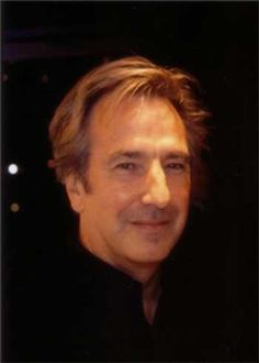 "2002 - Alan Rickman during the U.S. run of ""Private Lives."" The photo was taken at the stage door."