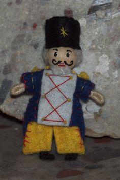 Waldorf nutcracker bendy doll  By: A Curious Twirl  https://www.etsy.com/shop/ACuriousTwirl
