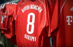 Ali Karimi Tshirt after he joined FC Bayern in Iran Football, Best Football Players, Home Team, Ali, Soccer, Places, T Shirt, Bavaria, Supreme T Shirt