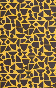 Seven Sisters Wallpaper Sister Wallpaper, Wallpaper Paste, Wall Patterns, Hand Illustration, Surface Pattern Design, Abstract Pattern, All Design, Geometric Shapes, Yellow