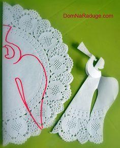 MENTŐÖTLET - kreáció, újrahasznosítás: Angyalkák papírból kivágva
