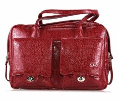 Eh Gia Mia pocket Bag 2.0 Snake Leather Bordeaux Hondendraagtas
