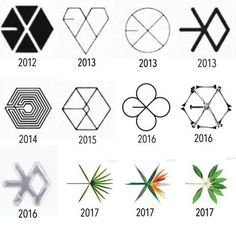 i love exo logos so much Kpop Exo, Exo Kokobop, Baekhyun Chanyeol, Chen, Ko Ko Bop, Fandom, Exo Ot12, Exo Memes, Bts And Exo