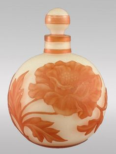 Stevens and Williams Cameo perfume bottle