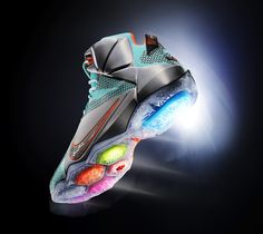 NIKE lebron 12 basketball shoe engineered for explosiveness http://www.designboom.com/design/nike-lebron-12-basketball-shoe-engineered-for-explosiveness-09-17-2014/