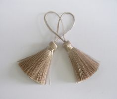 Gilver Silver Gold Tassel Silk Dangling Trim Fringe Jewelry Making Fashion Earrings Sewing Embellishments 2 pieces by thaisawasdee on Etsy