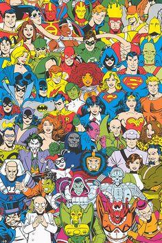 DC Comics - Retro Cast Poster 24 x Retro Comic Poster - Good Vs. Evil Size: x Ships rolled in sturdy cardboard tube Dc Comics Poster, Arte Dc Comics, Comic Poster, Dc Comics Superheroes, Dc Comics Characters, New Poster, Comic Books Art, Comic Art, Evil Batman