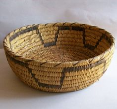 Vintage Native American Papago Basket Hand by FadingFiftiesVintage