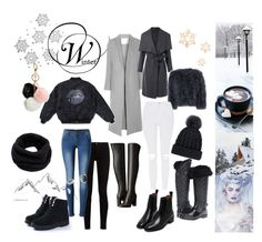 """""""winter inspo"""" by lenka-hirmanova on Polyvore featuring ADAM, Jocelyn, MICHAEL Michael Kors, Gucci, WithChic, Topshop, GUESS and Helmut Lang"""