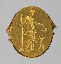 Finger ring with engraving: Venus and Cupid  4th - 3rd Century BC. Hellenistic. | © KHM-Museumsverband, Wissenschaftliche Anstalt öffentlichen Rechts.