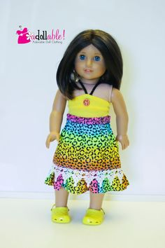 American Doll Clothes Spotted Leopard Trendy by AdollablebyRita