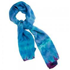 silkeskjerf blåtoner