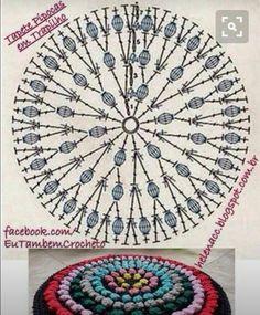 보관해 놓음 활용도 높을 것 같은 선명한 원형패턴 도안들만 담아왔어요. 출처: 힐링손뜨개 Crochet Chart, Love Crochet, Crochet Stitches, Knit Crochet, Crochet Cushions, Crochet Tablecloth, Crochet Doilies, Doily Patterns, Stitch Patterns