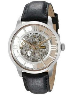 6a24765dd8c Fossil Townsman Automatic Skeleton Dial Black Leather ME3041 Men s Watch  Fossil Watches For Men