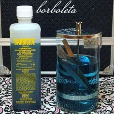 Make sure your lash artist knows how to correctly #clean their tools. Soaking in #Barbicide is one of many ways to #disinfect tweezers. #sanitation #borbytweezers